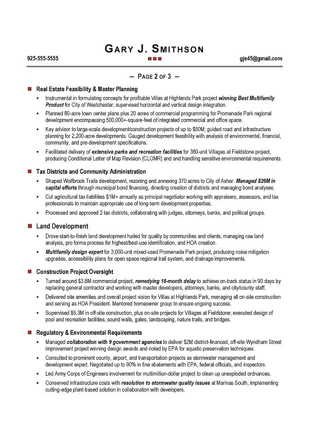 coo resume sample page 2 - Coo Resume Sample