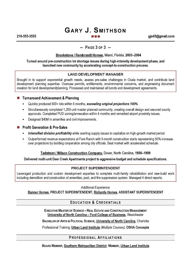 coo resume sample page 3 - Coo Resume Sample