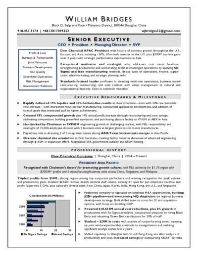 CEO & President Sample Resume by Laura Smith-Proulx