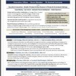 Board Resume Sample