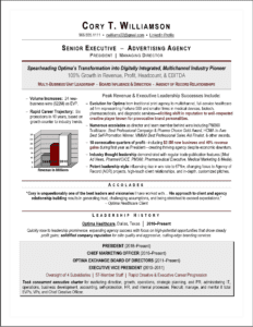 Award-Winning Chief Marketing Officer Resume by Laura Smith-Proulx