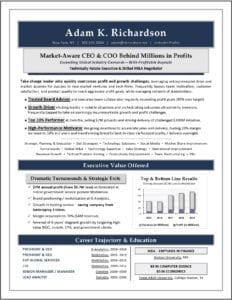 CEO & COO M&A Resume Sample by Laura Smith-Proulx