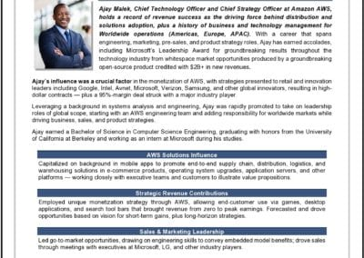 CTO and Strategy Officer Bio
