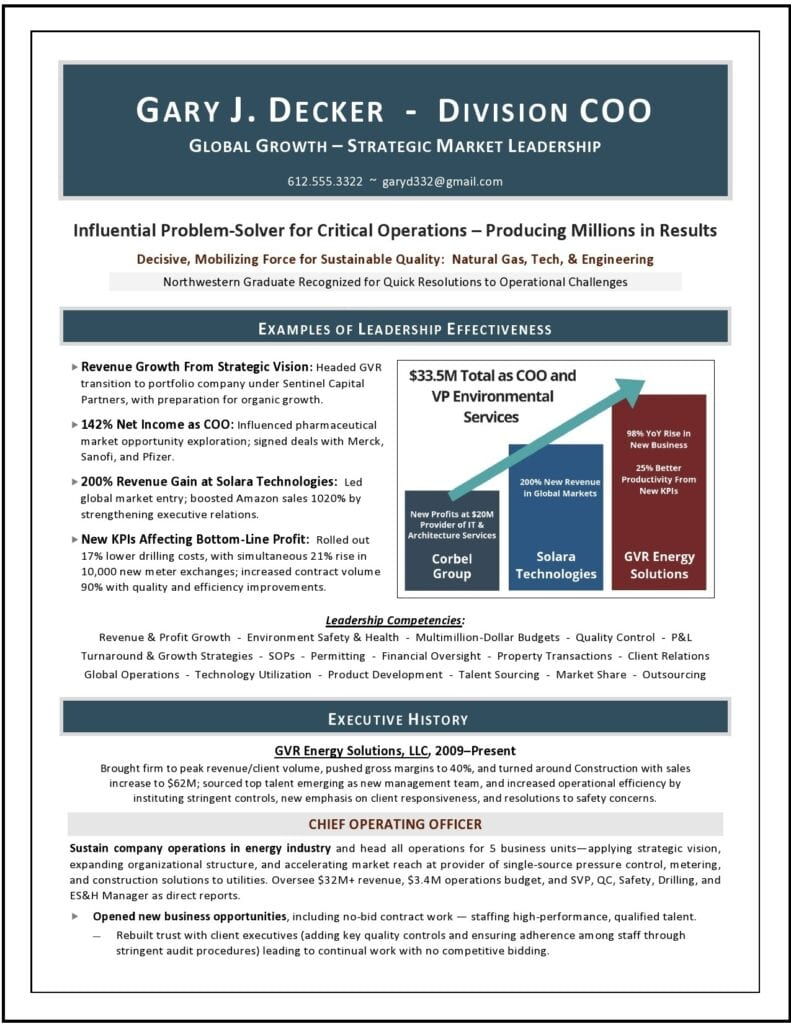 coo sample resume by Laura Smith-Proulx